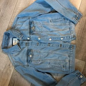 Forever 21 blue button down jean denim jacket s